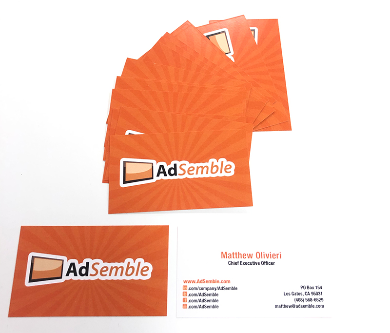 AdSemble official business cards