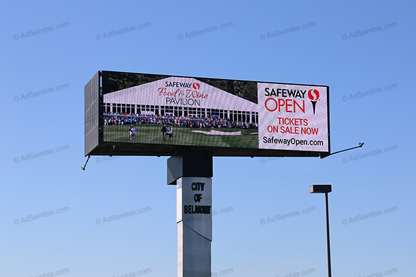 belmont california digital billboard