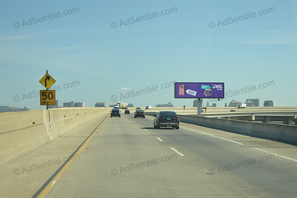 san francisco oakland bay bridge california digital billboard