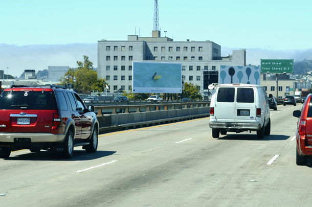 san francisco california soma static billboard