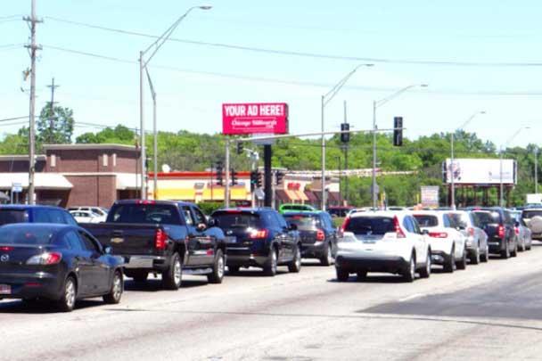 North Riverside IL Digital Billboard at Cermak and South
