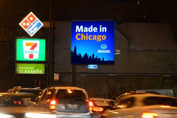 Chicago IL Wrigleyville Digital Billboard at Irving Park ...